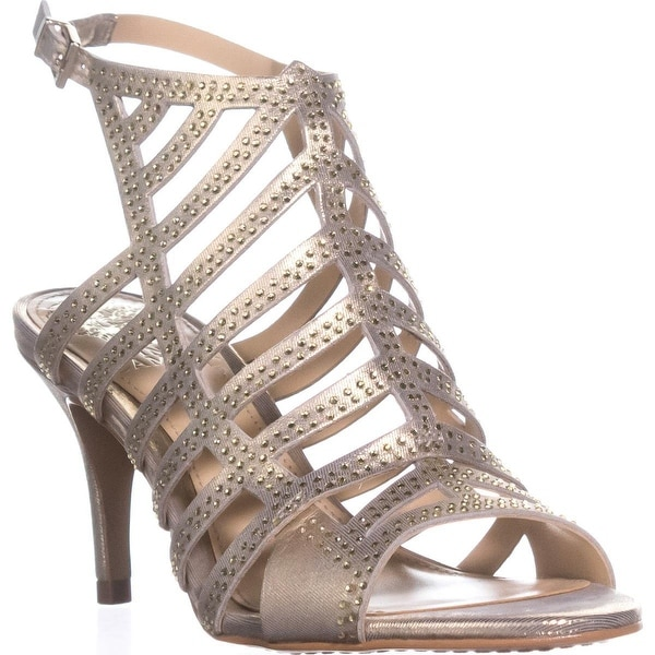 Vince Camuto Patinka Peep Toe Gladiator Sandals, Gold Nugget - 6 us / 36 eu