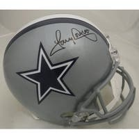 Tony Dorsett Autographed Dallas Cowboys Full Size Replica Helmet in Black Name Only JSA