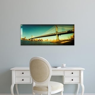 Easy Art Prints Panoramic Images's 'Suspension bridge,, Brooklyn Bridge, Manhattan, New York City' Canvas Art