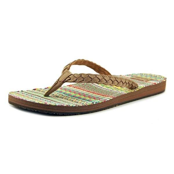 Sanuk Poncho Viva Women Open Toe Synthetic Multi Color Flip Flop Sandal