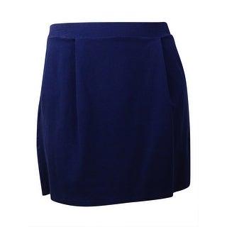 Tommy Hilfiger Women's Pleated Knit Mini Skirt