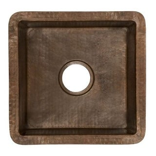"Native Trails CPS34 Cantina 13"" Single Basin Undermount Copper Bar Sink"