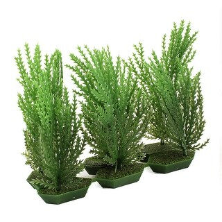 """3.5"""" High Artificial Landscaping Green Weed Grass for Fish Tank Fishbowl"""