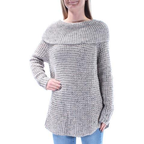 AMERICAN RAG Womens Gray Long Sleeve Jewel Neck Sweater Size: XS