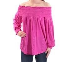 Ralph Lauren Womens Pink Long Sleeve Off Shoulder Top  Size: XS