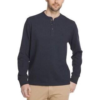 G.H. Bass & Co. Mens Henley Shirt Jersey Long Sleeves
