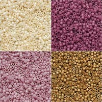 Exclusive Beadaholique Designer Palette, Miyuki Delica Seed Bead Mix, 11/0 Size, 28.8 Grams, Notting Hill