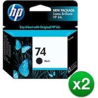 HP 74 Black Original Ink Cartridge (CB335WN)(2-Pack)