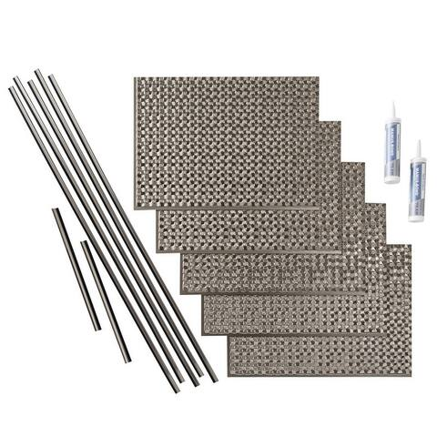 Fasade Terrain in Brushed Nickel Backsplash 15 square feet 15 Sq Ft Kit