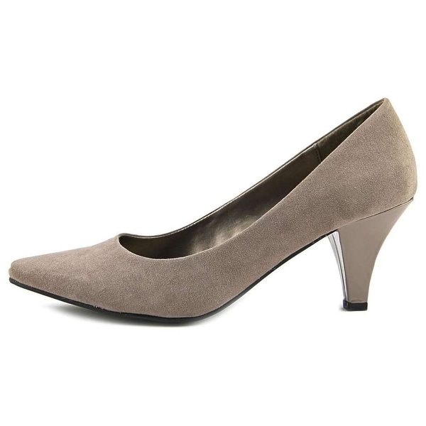 Karen Scott Womens Meaggann Suede Pointed Toe Classic Pumps, Taupe, Size 5.0