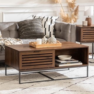 Link to Strick & Bolton Hilla 42-inch Slat Door Coffee Table Similar Items in Living Room Furniture
