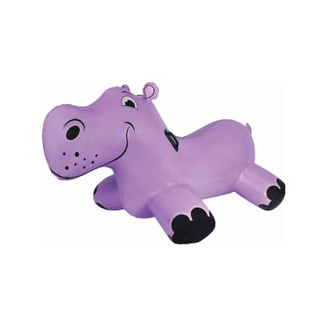"""69"""" Inflatable Purple Happy Hippo Rider Swimming Pool Float"""