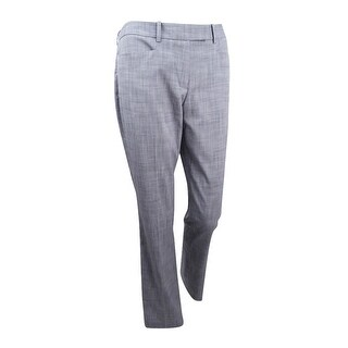 Tommy Hilfiger Women's Crosshatch Straight-Leg Trousers - Pebble