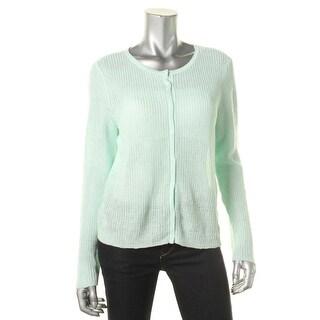 Eileen Fisher Womens Organic Linen Knit Cardigan Sweater
