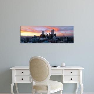 Easy Art Prints Panoramic Images's 'Skyline, Denver, Colorado' Premium Canvas Art