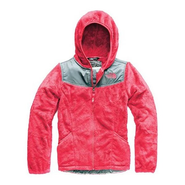 c261fdf3cdc1 Shop The North Face Girls  Oso Fleece Hoodie Atomic Pink - Free Shipping  Today - Overstock - 26270196