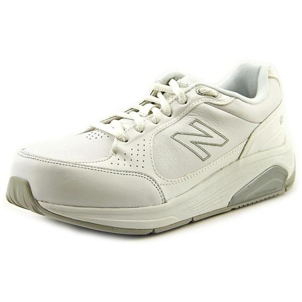 New Balance WW928 Women D Round Toe Leather White Walking Shoe
