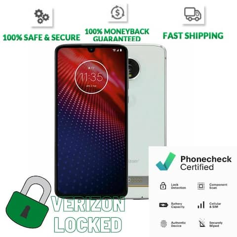 Motorola Moto Z4 128GB Frost White Verizon Locked Smartphone - Frost White