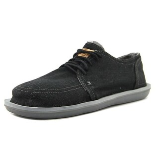 Sanuk Vista Men Round Toe Canvas Black Sneakers