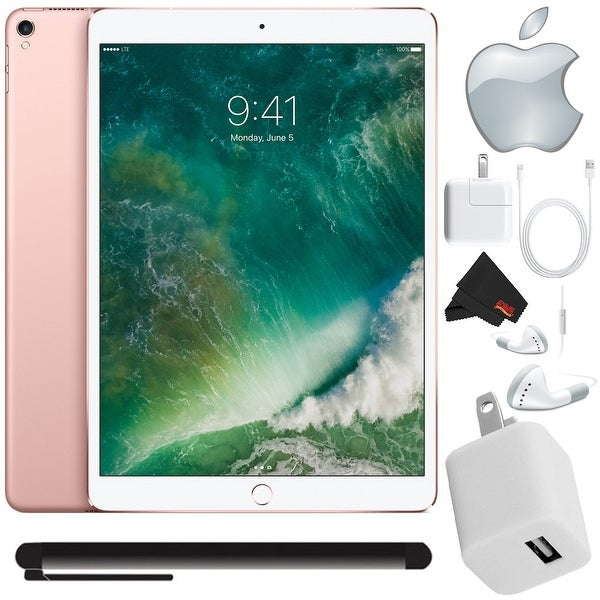 Apple iPad Pro 10.5 inch (64GB, Wi-Fi 4G LTE, Rose Gold) Bundle