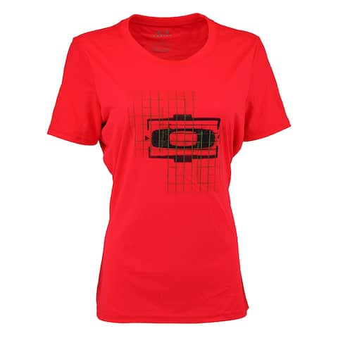 Oakley Women's Grid Print T-Shirt - Red/Green/Black