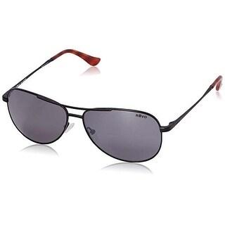 Revo Eyewear Sunglasses Relay Satin Black with Gray Polarized Lenses