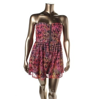 Material Girl Womens Lace Printed Romper - XS