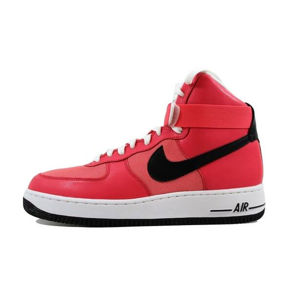 Shop Nike Women S Air Force 1 High Solar Red Black White 334031
