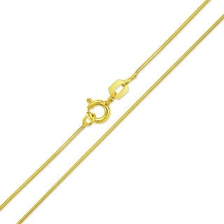 Bling Jewelry Gold Plated 925 Sterling Silver 010 Gauge Snake Chain Italy