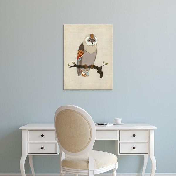 Easy Art Prints June Erica Vess's 'Chevron Owl I' Premium Canvas Art