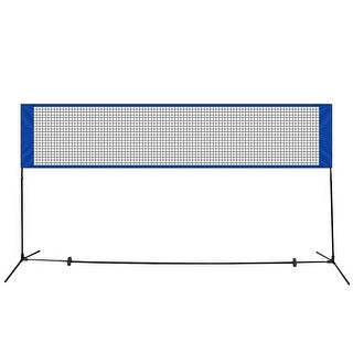 Costway Portable Badminton Beach Volleyball Tennis Training Net - Blue