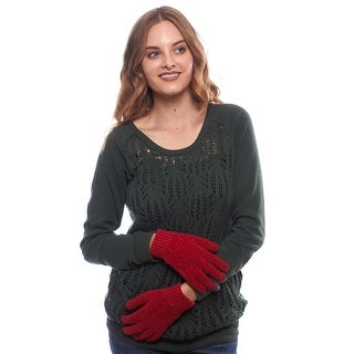 Awesome Knockout Knit Stretch Gloves with Ribbed Cuff