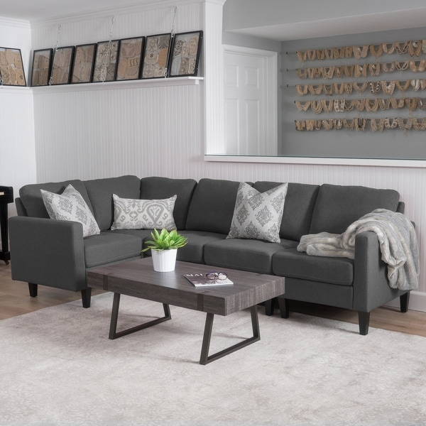 Zahra Modern 5-piece Fabric Sofa Sectional by Christopher Knight Home. Opens flyout.