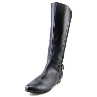 Array Peace  W Round Toe Leather  Knee High Boot