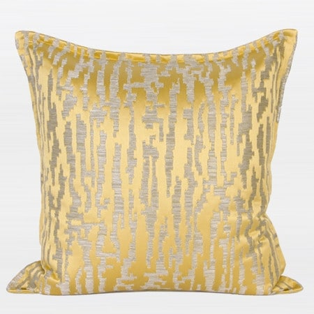 """G Home Collection Luxury Yellow Nonobjective Pattern Jacquard Pillow 22""""X22"""""""