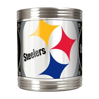 Great American Products Pittsburgh Steelers Can Holder Stainless Steel Can Holder