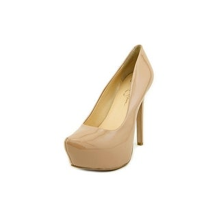 Jessica Simpson Jasmint Open Toe Synthetic Platform Heel