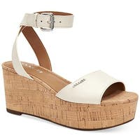 Coach Womens Becka Leather Open Toe Casual Ankle Strap Sandals