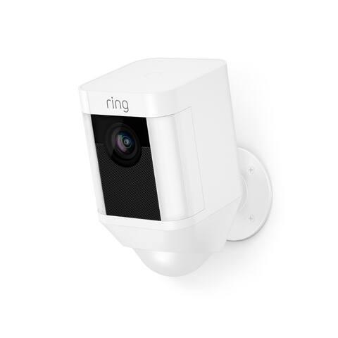 Ring⢠8SB1S7-WEN0 Battery-Powered Spotlight Camera, White
