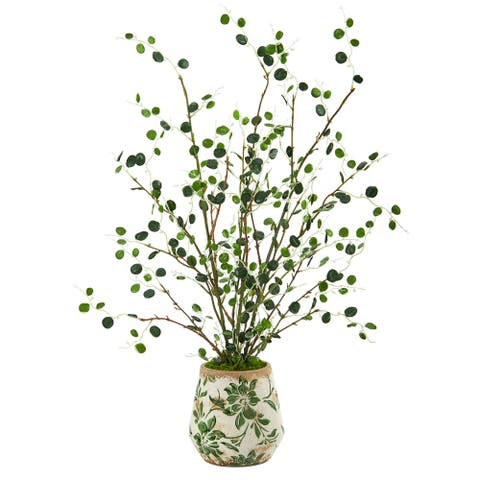 """24"""" Night Willow Artificial Plant in Floral Planter"""