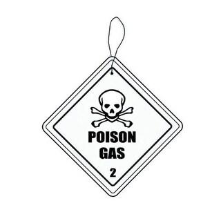 Hazmat Poison Gas Automobile Air Freshener