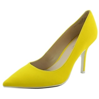 Nine West 7 Tallon Women Pointed Toe Synthetic Yellow Heels