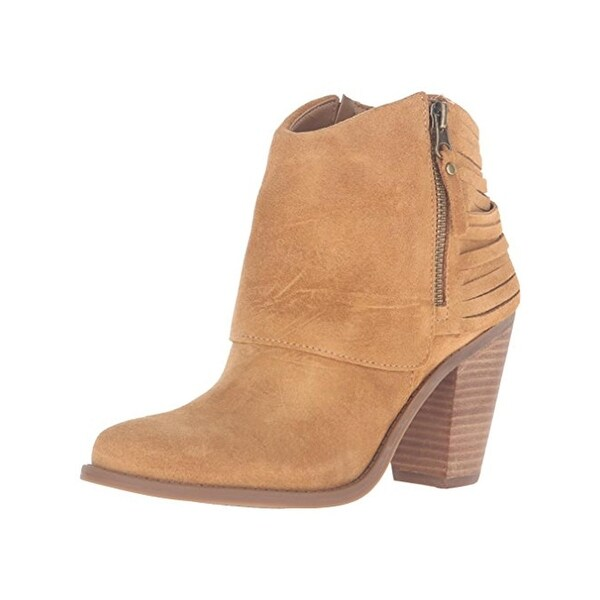 Jessica Simpson Womens Cerrina Ankle Boots Leather Heels
