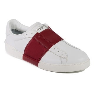 Valentino Men's Two Tone Leather Elastic Band Sneakers