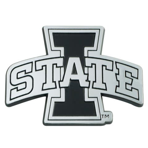 """3"""" Stainless Steel and Black NCAA Iowa State Cyclones 3D Emblem - N/A"""