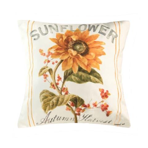 Sunflower Autumn Pillow