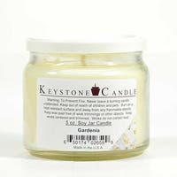 1 Pc 5 oz Gardenia Soy Jar Candles 3.5 in. diameter x 2.75 in. tall