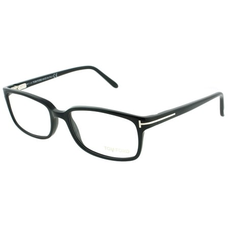 Tom Ford TF5209 001 53mm Shiny Black Rectangle Unisex Eyeglasses - Shiny Black - 53mm-17mm-140mm