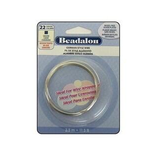 Beadalon German Style Wire Sq 22ga Slv Plt 3.5M