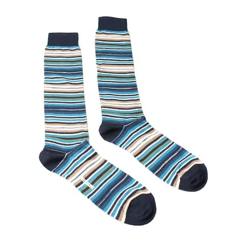 Missoni GM00CMU5234 0003 Turquoise/Navy Knee Length Socks